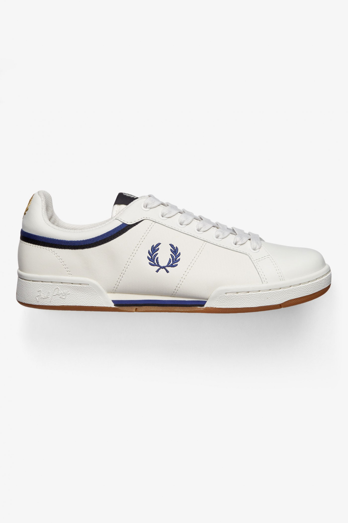 Fred Perry B721 Bottes En Cuir Porcelaine Baskets
