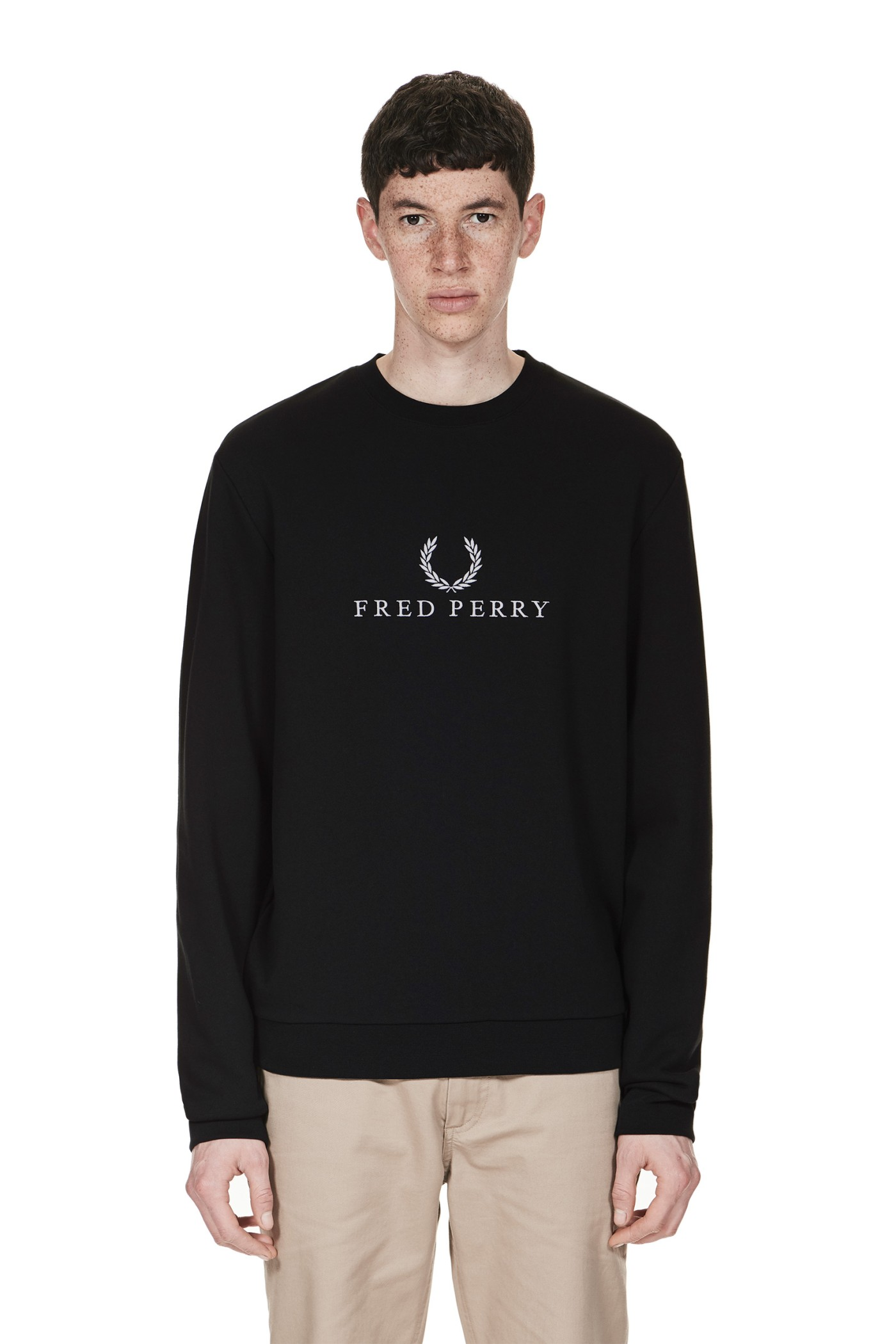 Fred Perry Fred Perry Logo Tennis Sweatshirt Black
